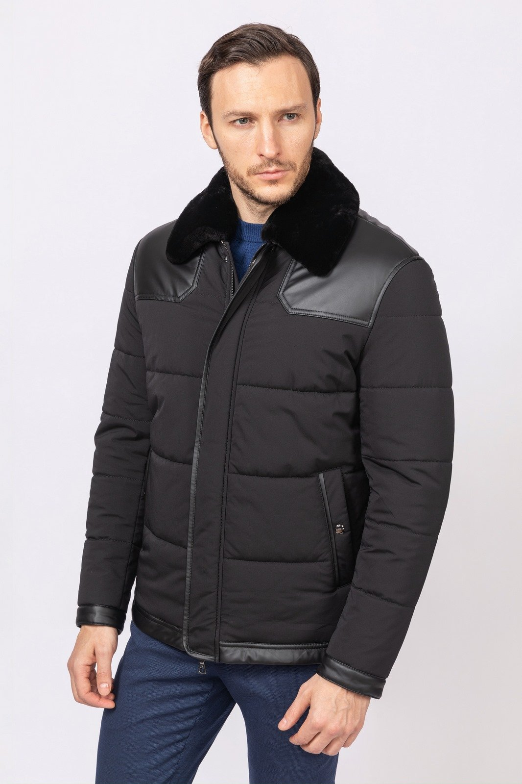 Kanzler Демисезонная куртка с меховым воротником KANZLER