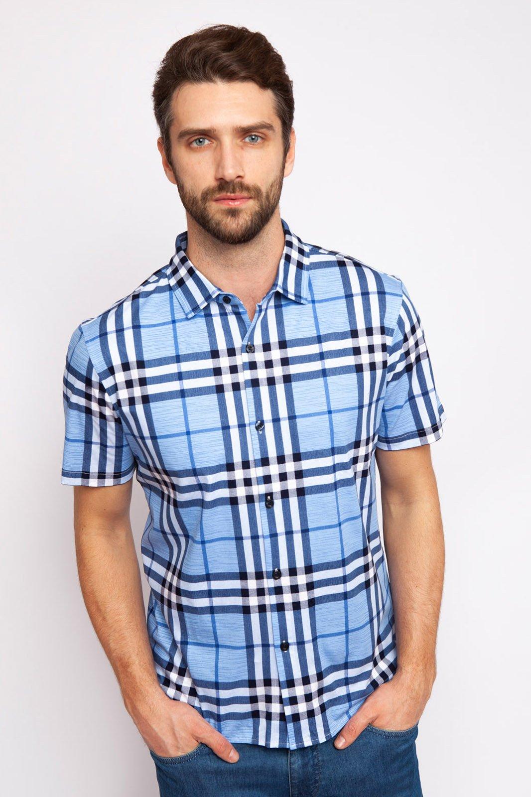 Kanzler Рубашка приталенная из мерсеризированного хлопка с коротким рукавом KANZLER