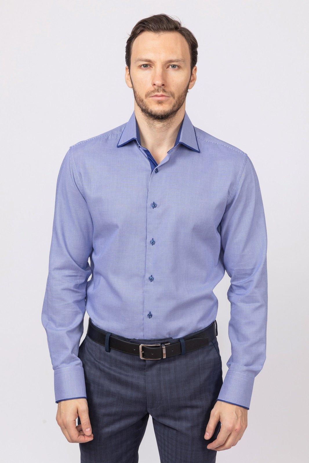 Рубашка приталенная из хлопка KANZLER