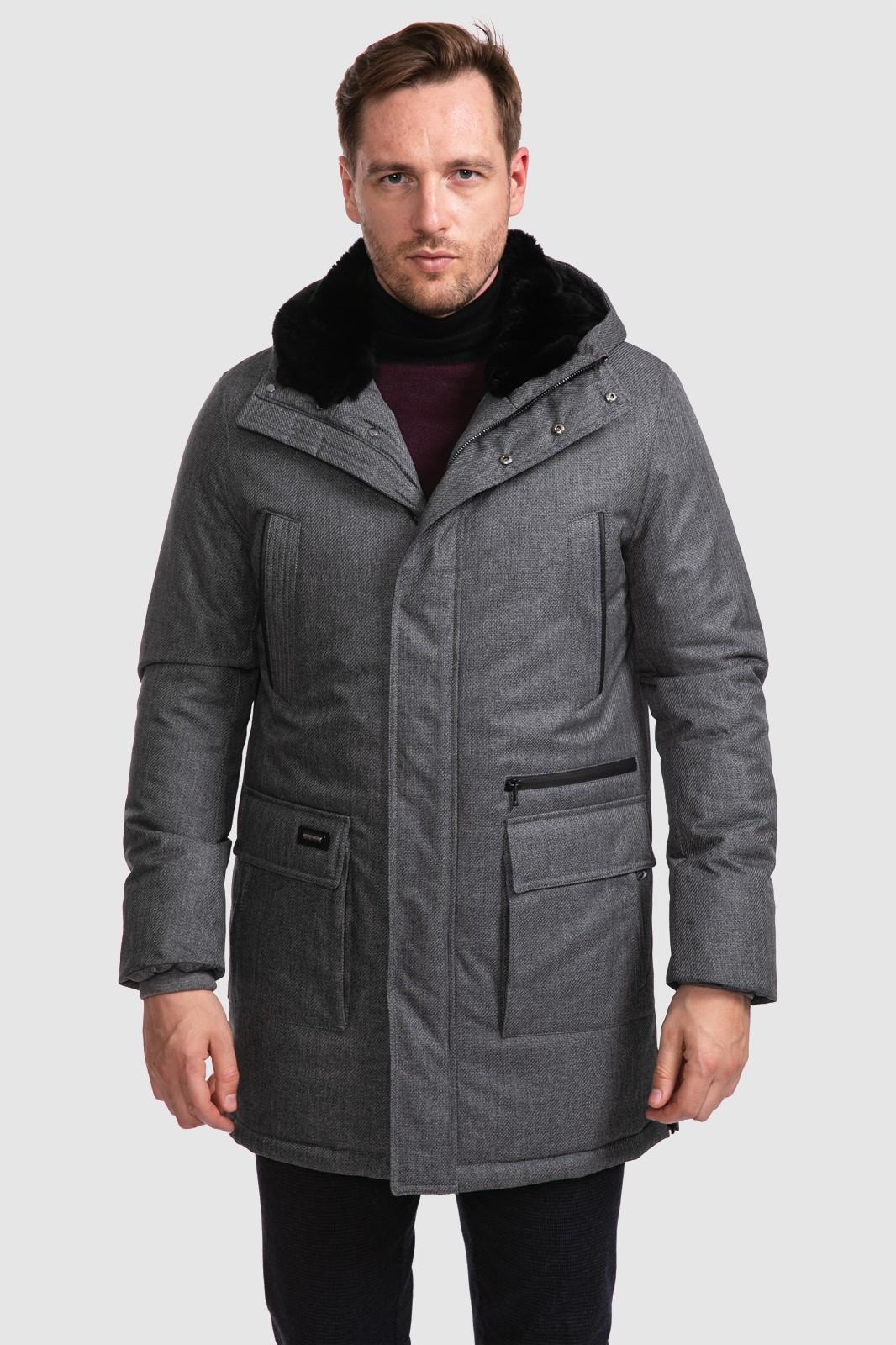 Kanzler Куртка с натуральным мехом на капюшоне KANZLER