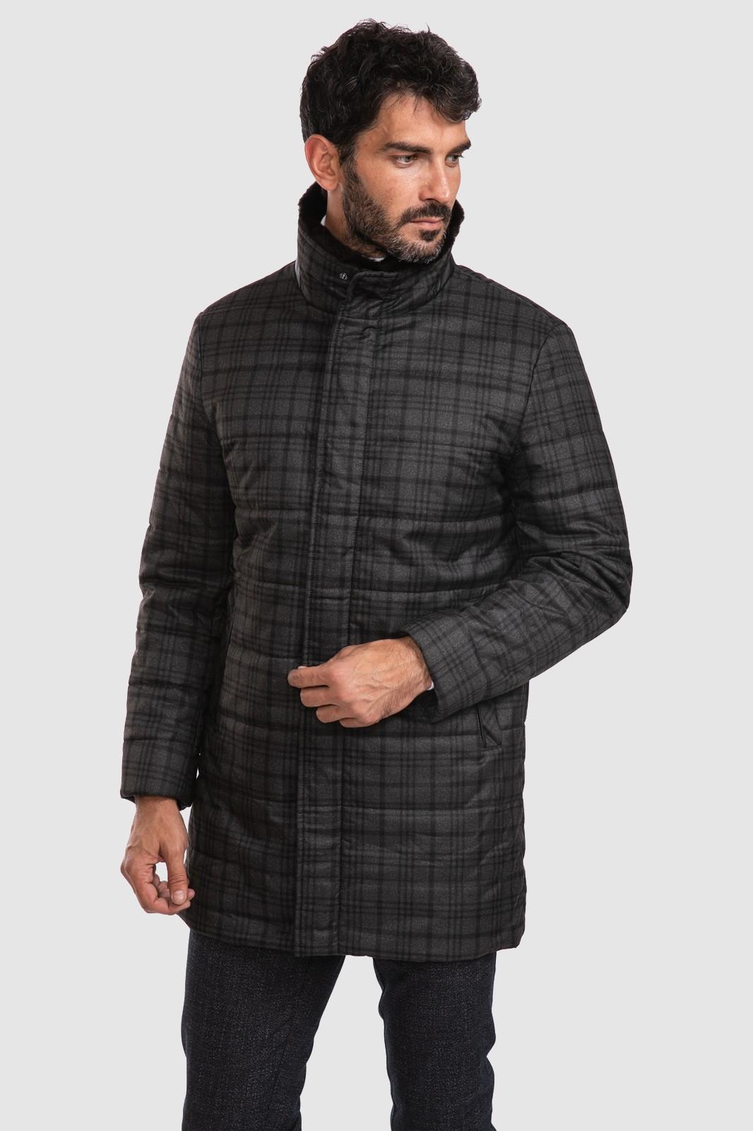 Куртка с натуральным мехом на воротнике KANZLER