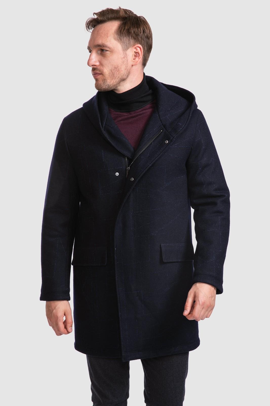 Пальто из шерсти с капюшоном KANZLER