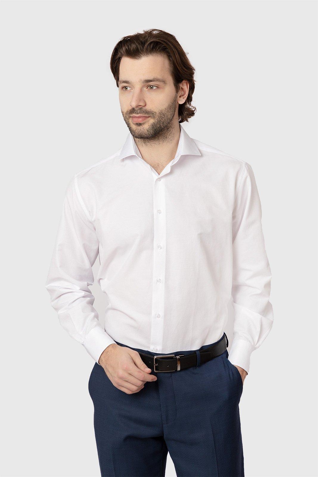 Прямая рубашка из хлопка KANZLER