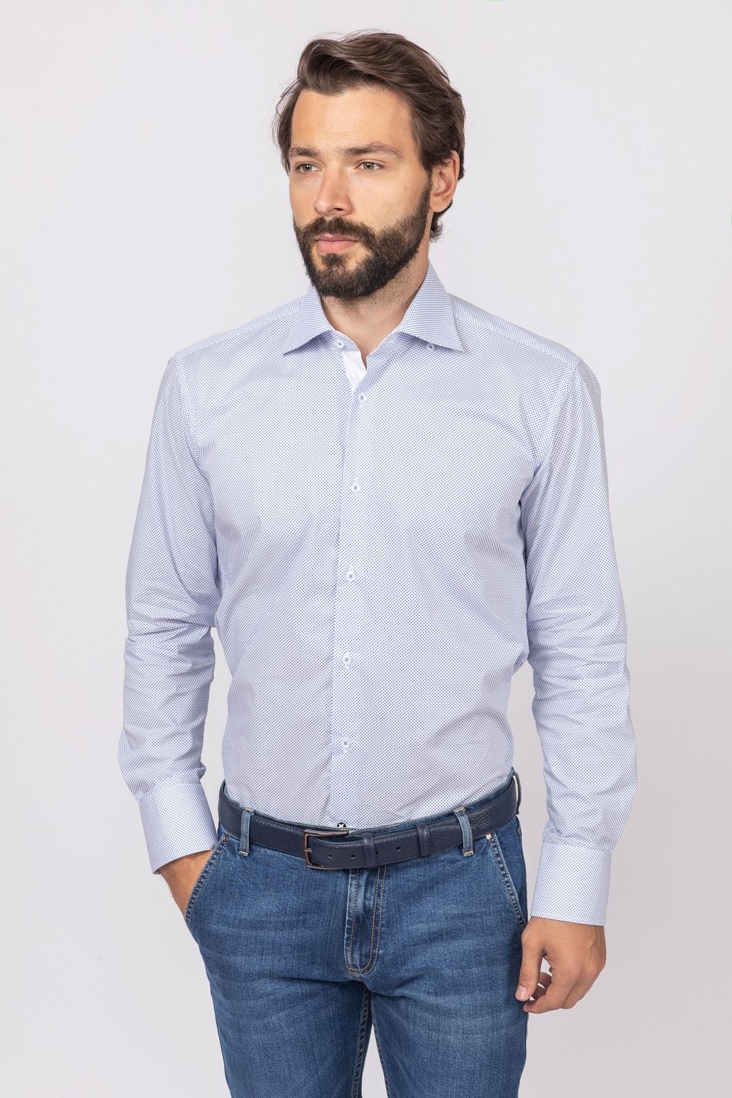 Сорочка приталенная из хлопка KANZLER